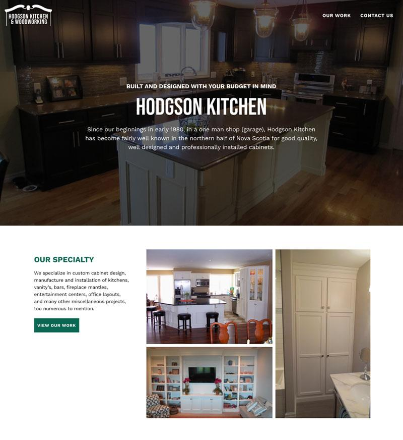 Hodgson Kitchen and woodworking website design