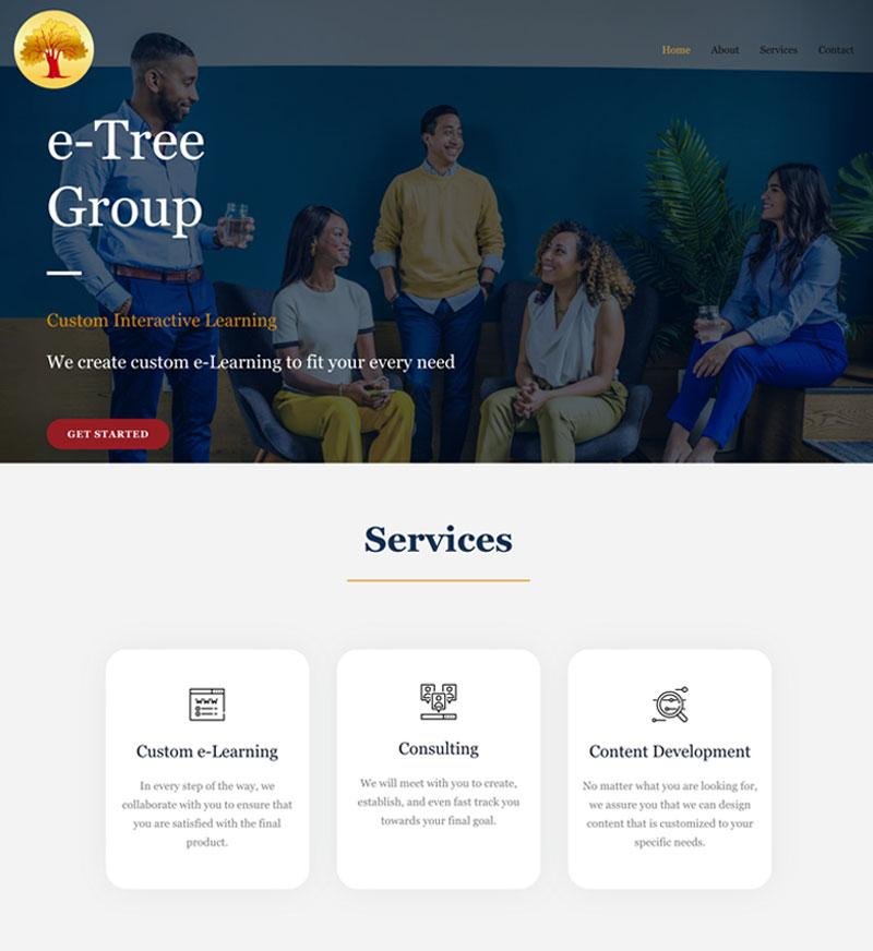 etree group website design