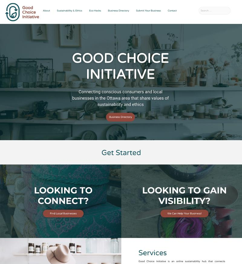 good choice initiative website design