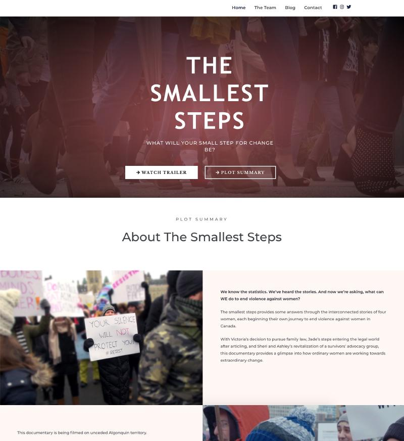 the smallest steps website design